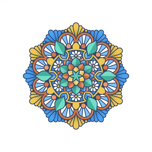 Kleurrijk mandala-ontwerp Premium Vector