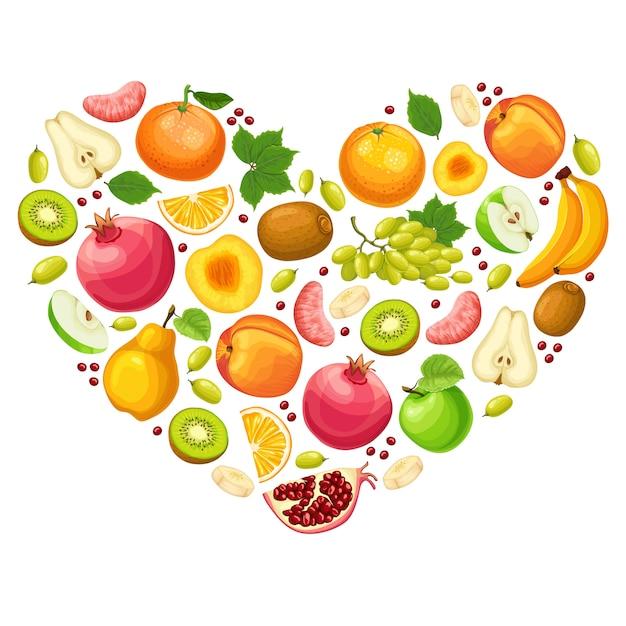 Kleurrijk natuurlijk fruitconcept Gratis Vector