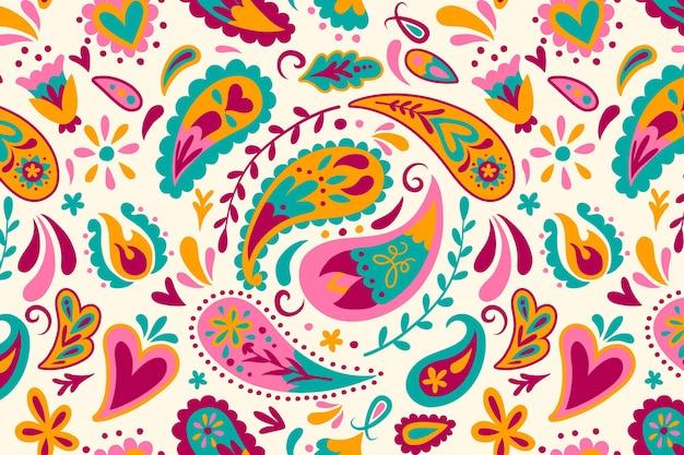 Kleurrijk paisley patroon Premium Vector