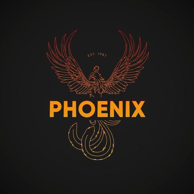 Kleurrijk phoenix logo concept Gratis Vector