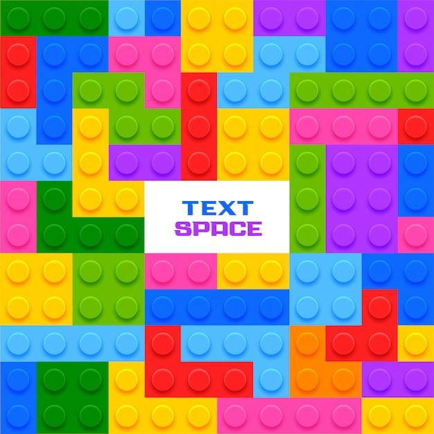 Kleurrijk plastic blokkenspel Gratis Vector