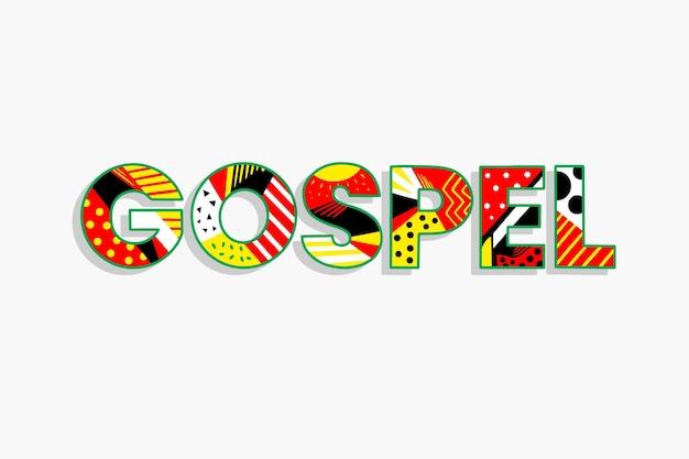 Kleurrijk religieus evangelie woord concept Gratis Vector