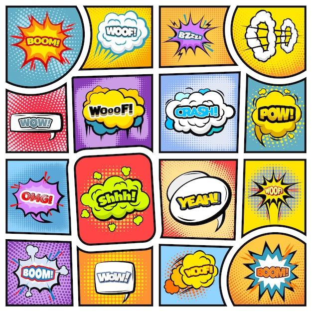 Kleurrijk stripboek Gratis Vector