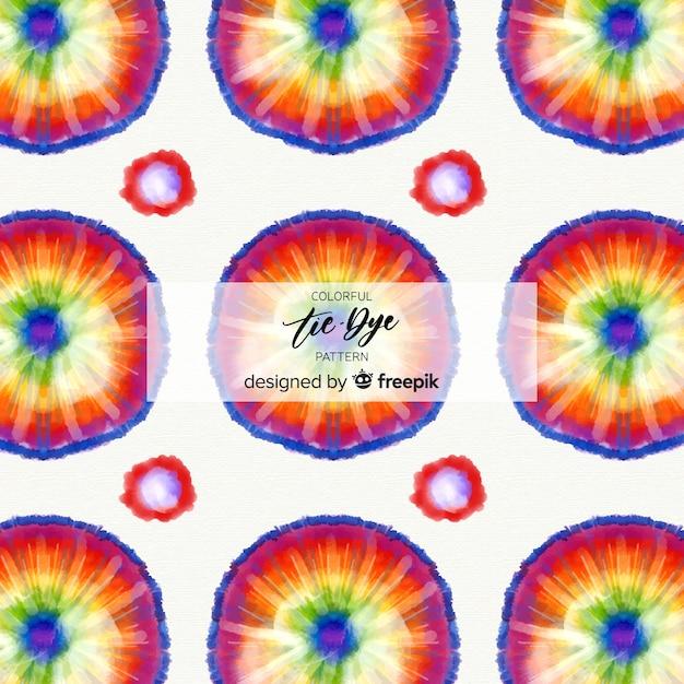 Kleurrijk stropdas-kleurstofpatroon Gratis Vector