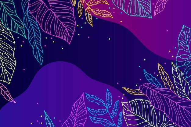 Kleurrijk tropisch behang met lege ruimte Gratis Vector