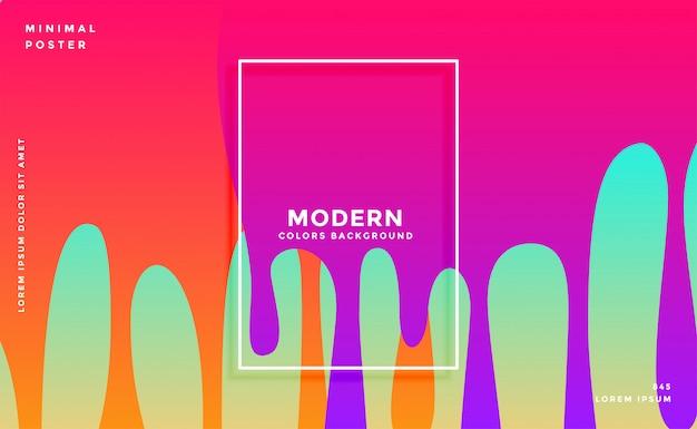 Kleurrijk van de inktdruppel ontwerp als achtergrond Gratis Vector
