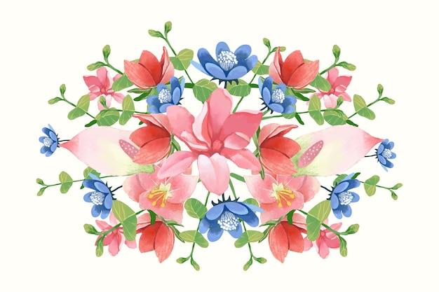 Kleurrijk vintage bloemenboeket Gratis Vector