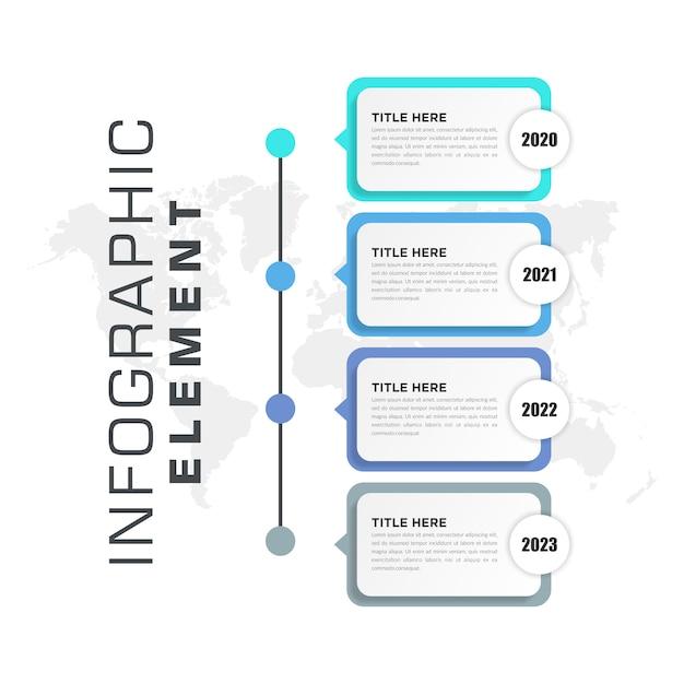 Kleurrijk zakelijk infographic ontwerp van elementen Premium Vector