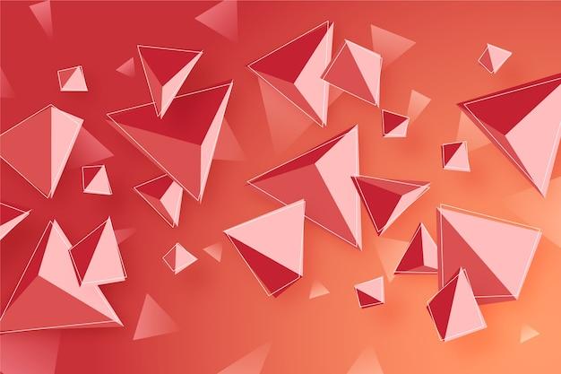 Kleurrijke 3d driehoeksachtergrond Gratis Vector