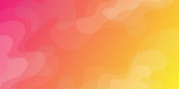 Kleurrijke abstracte achtergrond met minimale geometrie als element. Premium Vector