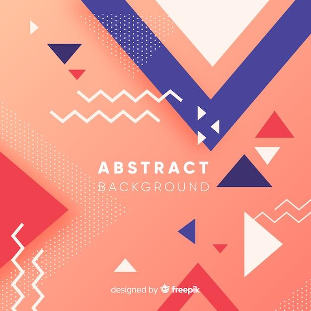 Kleurrijke abstracte achtergrond met moderne stijl Gratis Vector