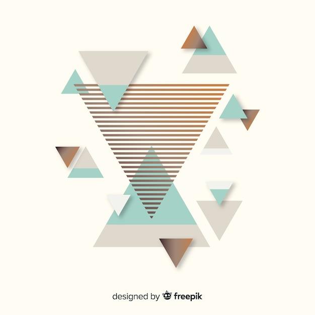 Kleurrijke abstracte achtergrond met platte ontwerp Gratis Vector