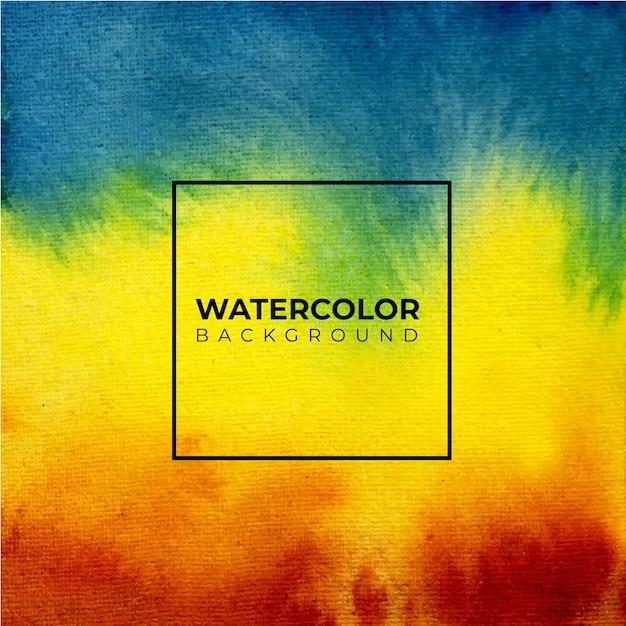 Kleurrijke abstracte aquarel textuur achtergrond Premium Vector