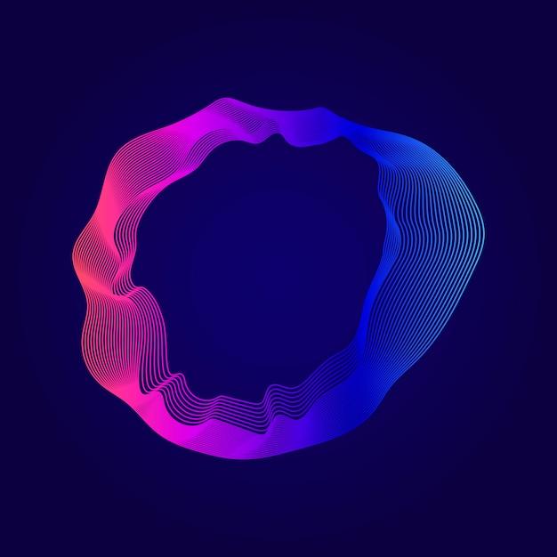 Kleurrijke abstracte contourlijnen illustratie Gratis Vector