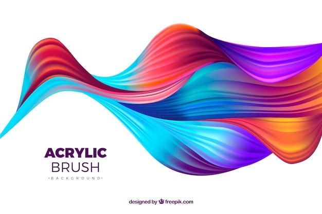 Kleurrijke abstracte golvenachtergrond Gratis Vector