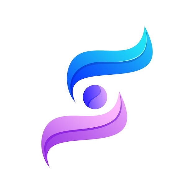 Kleurrijke abstracte lettermark s logo premium Premium Vector