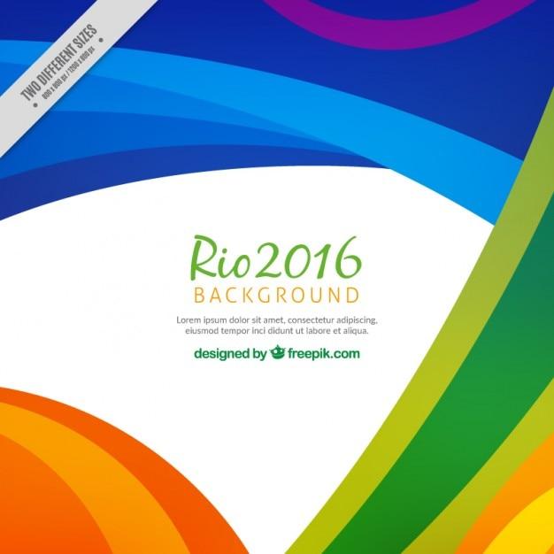 Kleurrijke abstracte rio 2016 achtergrond Gratis Vector