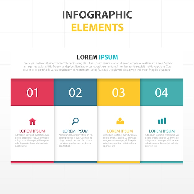 kleurrijke abstracte zaken infographic template Gratis Vector