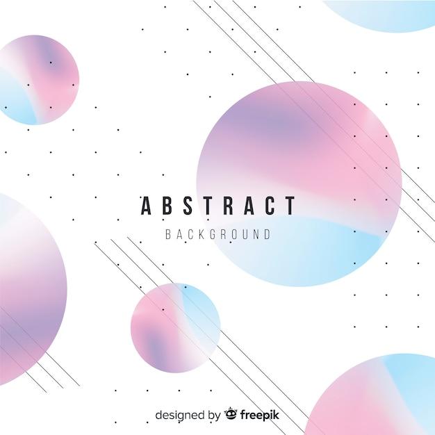 Kleurrijke achtergrond met abstract ontwerp Gratis Vector