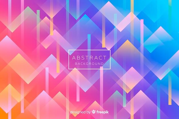 Kleurrijke achtergrond met abstracte vormen Gratis Vector