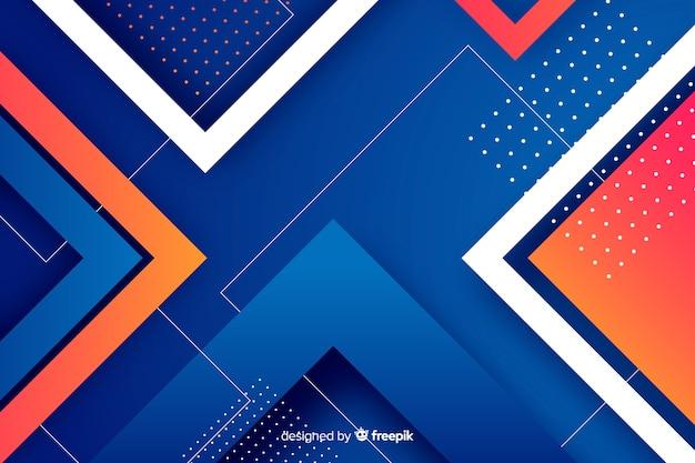 Kleurrijke achtergrond met kleurovergang geometrische vormen Gratis Vector