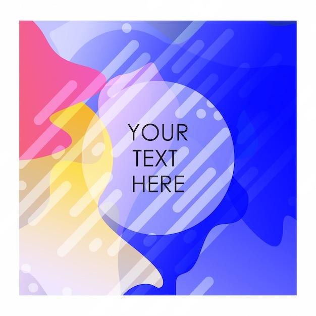 Kleurrijke achtergrond met typografie ontwerp vector Gratis Vector