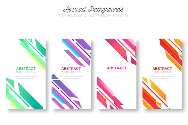 Kleurrijke achtergronden voor mobiele en instagramverhalen Gratis Vector