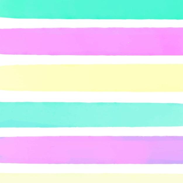 Kleurrijke aquarel gestreepte achtergrond Gratis Vector