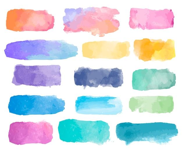 Kleurrijke aquarel patch achtergrond vector Gratis Vector