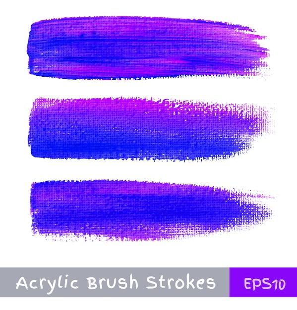 Kleurrijke aquarel penseelstreken op canvas, illustratie Premium Vector