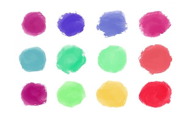 Kleurrijke aquarel penseelstreken Gratis Vector