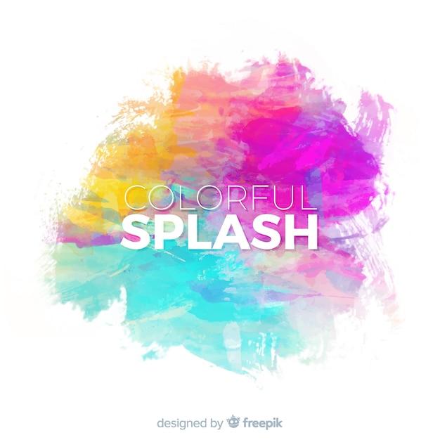 Kleurrijke aquarel splash Gratis Vector