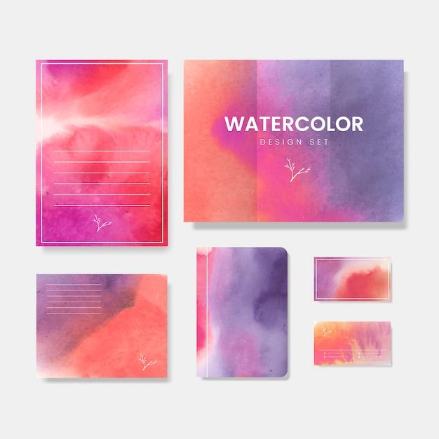 Kleurrijke aquarel stijl banner vector Gratis Vector