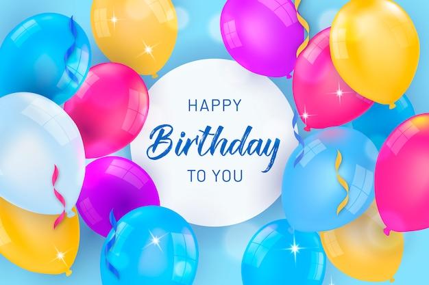 Kleurrijke Ballonnen Voor Verjaardag Vector Gratis Download