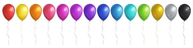 Kleurrijke ballonnen Premium Vector