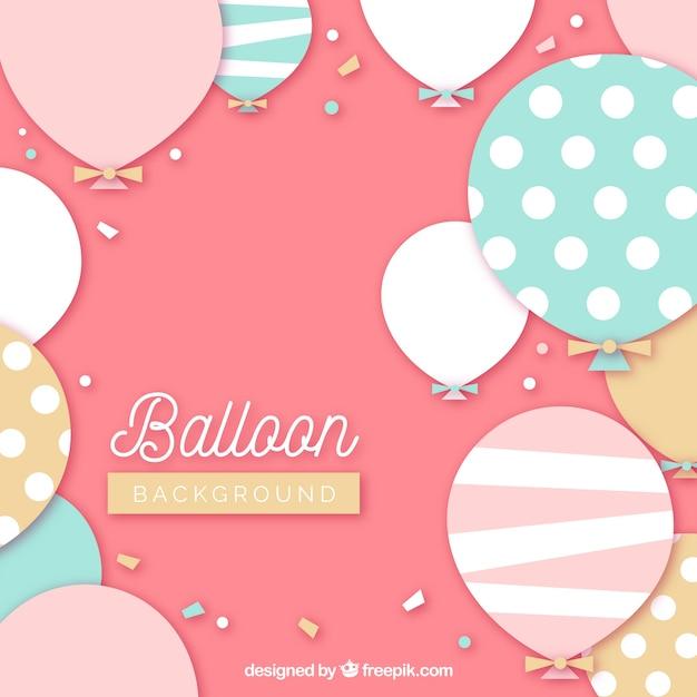 Kleurrijke ballonsachtergrond om te vieren Gratis Vector