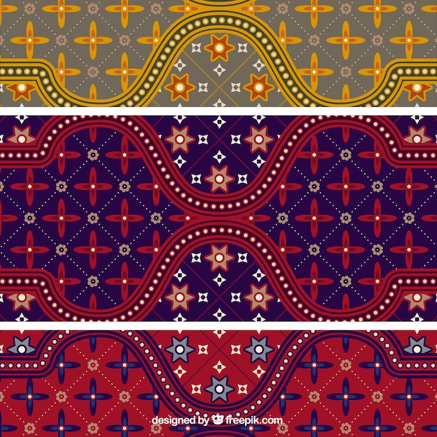 Kleurrijke batik patroon illustrator vector Gratis Vector