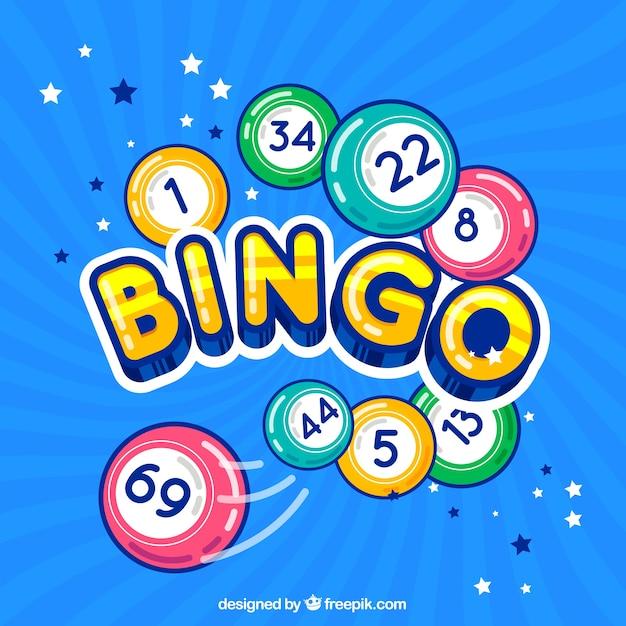 Kleurrijke bingo achtergrond Gratis Vector