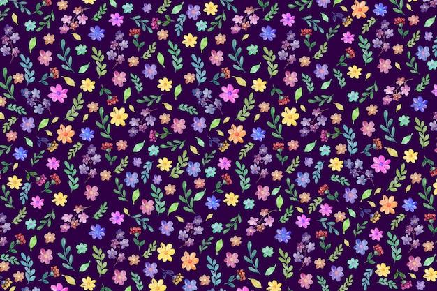 Kleurrijke bloemenachtergrond Gratis Vector