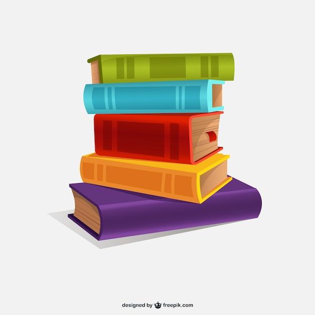 Kleurrijke boeken illustratie | Gratis Vector
