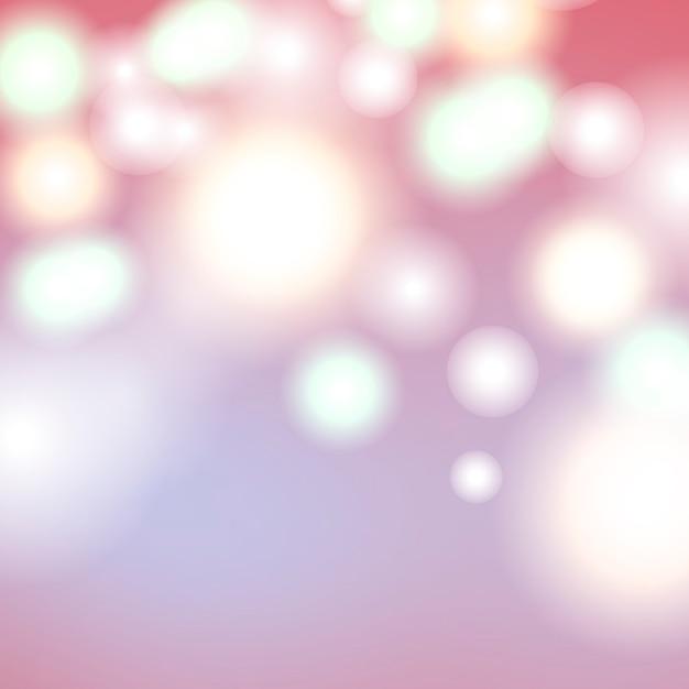 Kleurrijke bokeh achtergrond Gratis Vector