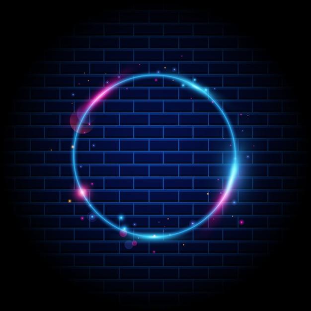 Kleurrijke cirkel licht frame achtergrond Premium Vector