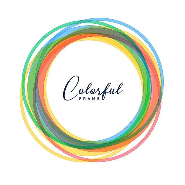 Kleurrijke cirkelkaders geplaatst achtergrond Gratis Vector