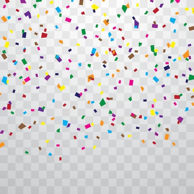 Kleurrijke confetti Premium Vector