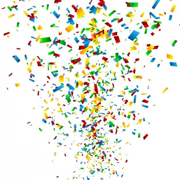 Kleurrijke confettienachtergrond Vector   Gratis Download