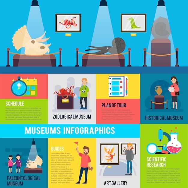 Kleurrijke excursie infographic Gratis Vector