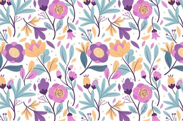 Kleurrijke exotische bloemen screensaver Gratis Vector