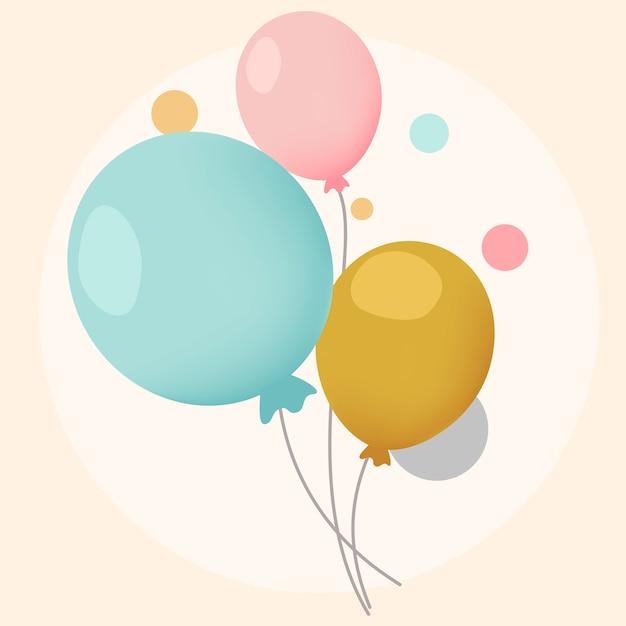 Kleurrijke feestelijke ballonnen ontwerp vectoren Gratis Vector