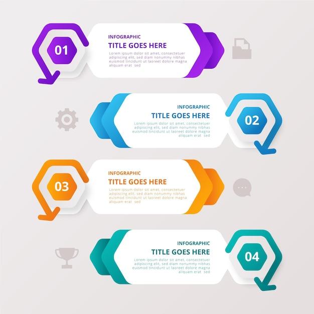 Kleurrijke gegevensverzameling infographic met details Gratis Vector