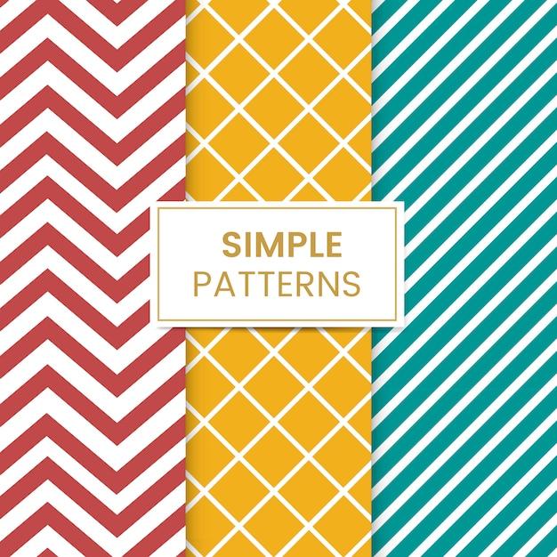 Kleurrijke gemengde naadloze patroon vector set Gratis Vector